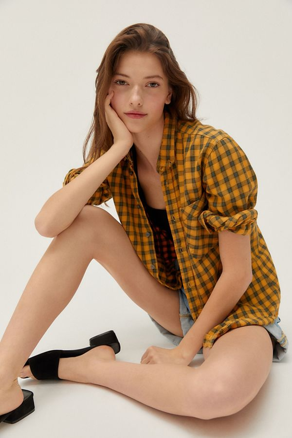 Urban Renewal Recycled Overdyed Flannel Shirt