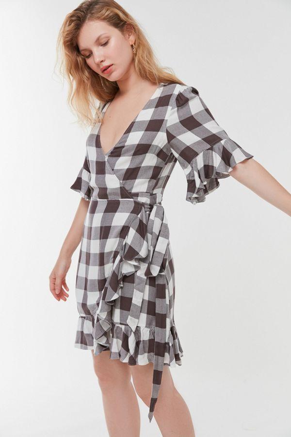 UO Frankie Ruffle Wrap Dress