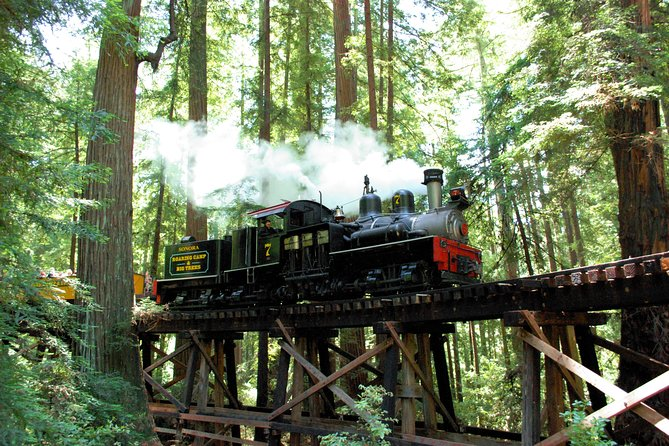 Steam Train Through Santa Cruz Redwoods - Board a historic steam train for a 1-hour ride through the Santa Cruz mountains from Felton's Roaring Camp, and go deep into redwood groves and California's past.