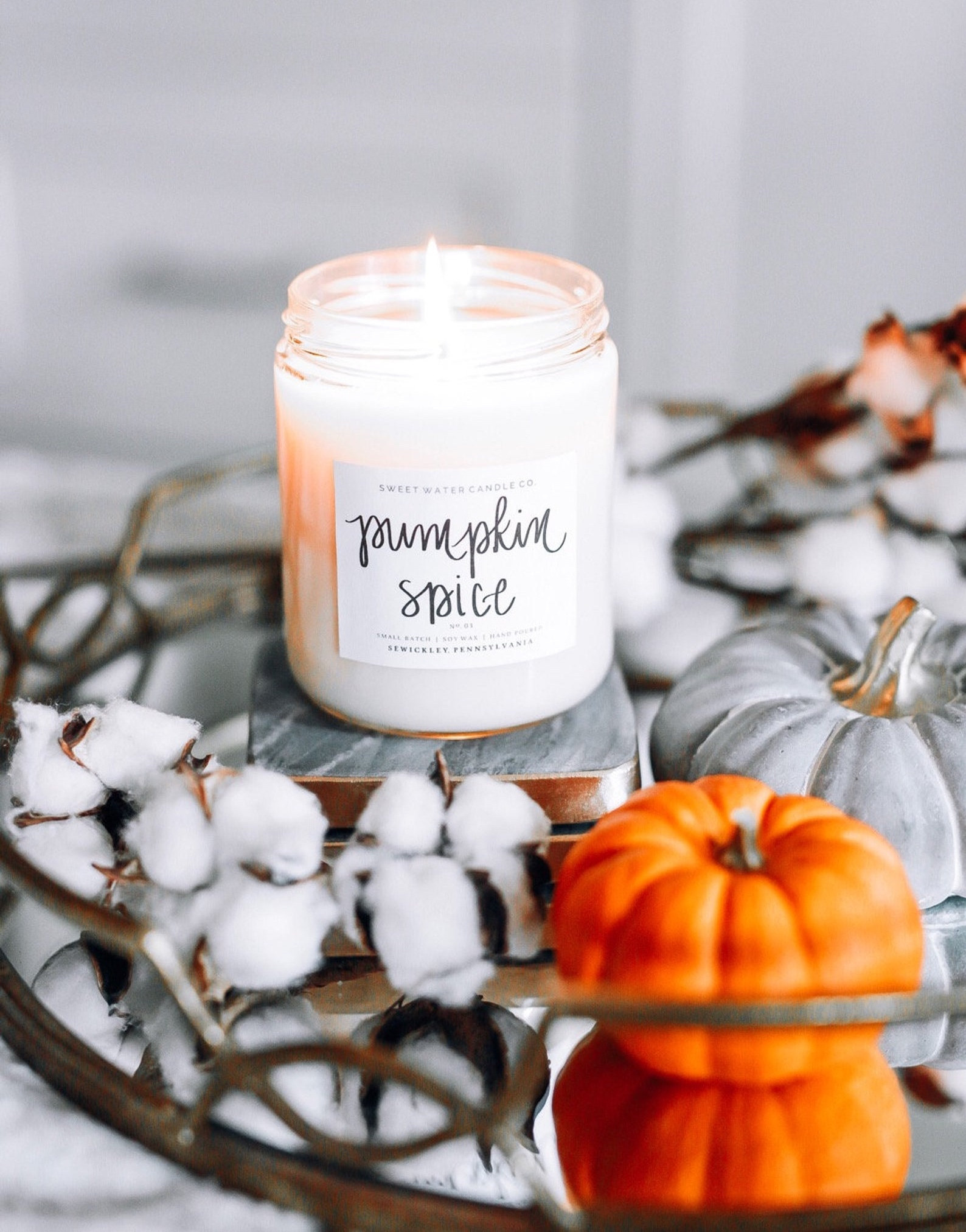 Pumpkin Spice Candle By Sweetwaterdecor