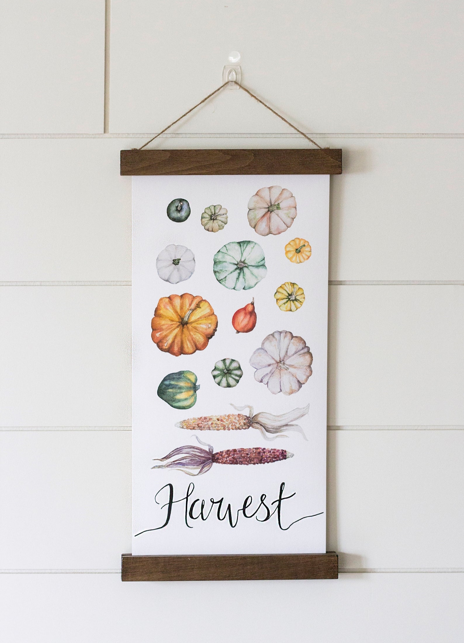 Pumpkins Hanging Canvas By E H Company