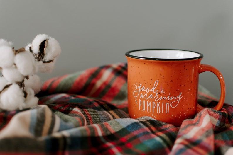 Pumpkin Campfire Mug By Twelve 9 Printing