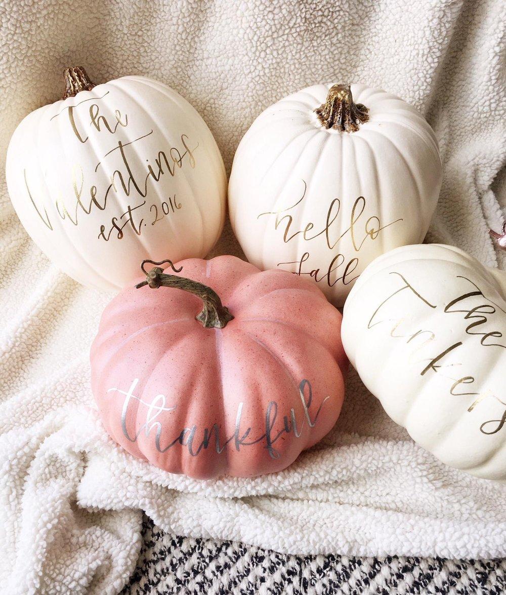 Custom Personalized Pumpkin By Proper Letter