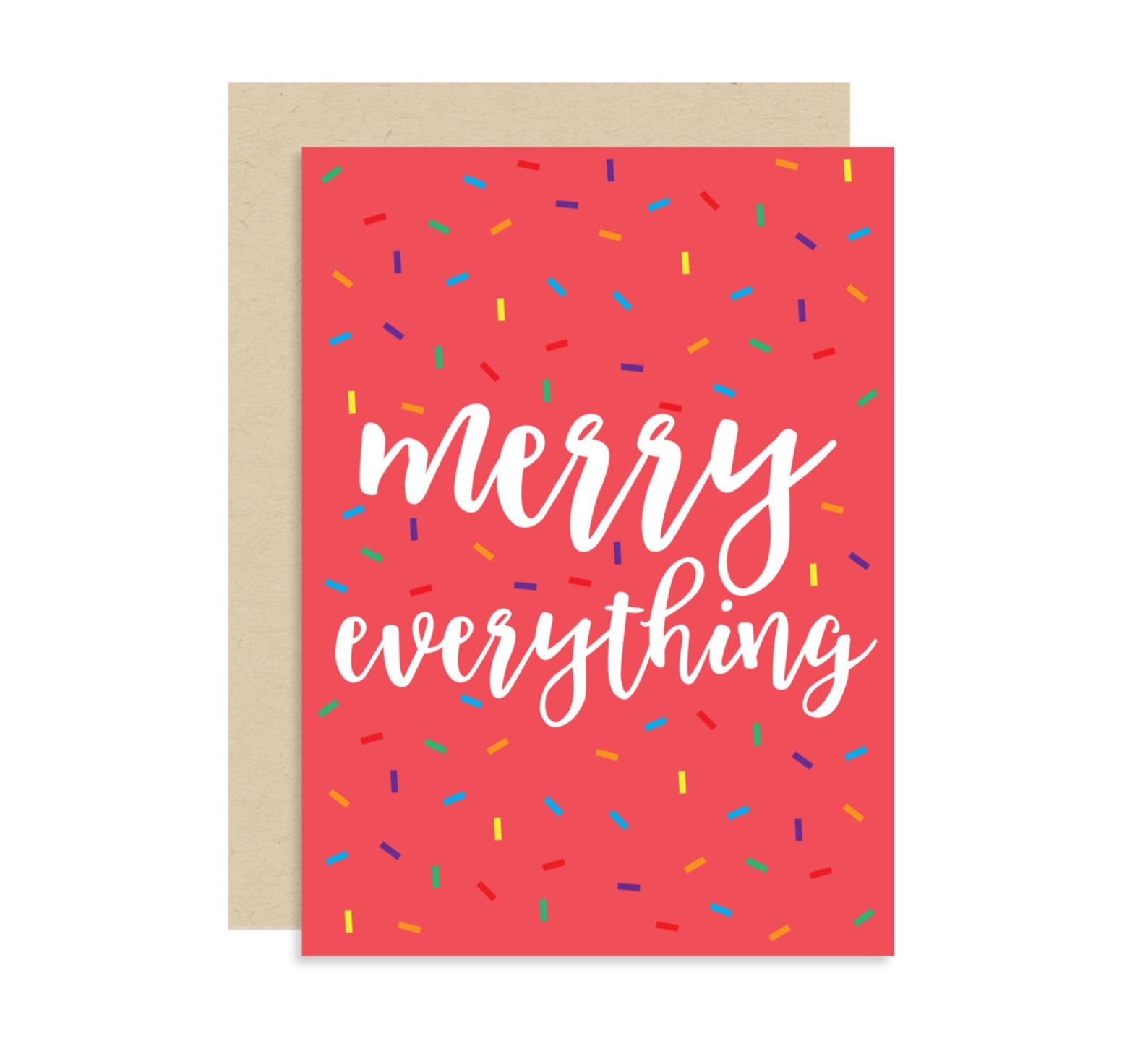 Merry Everything Confetti Sprinkles Christmas Card By Shop Mad Designs