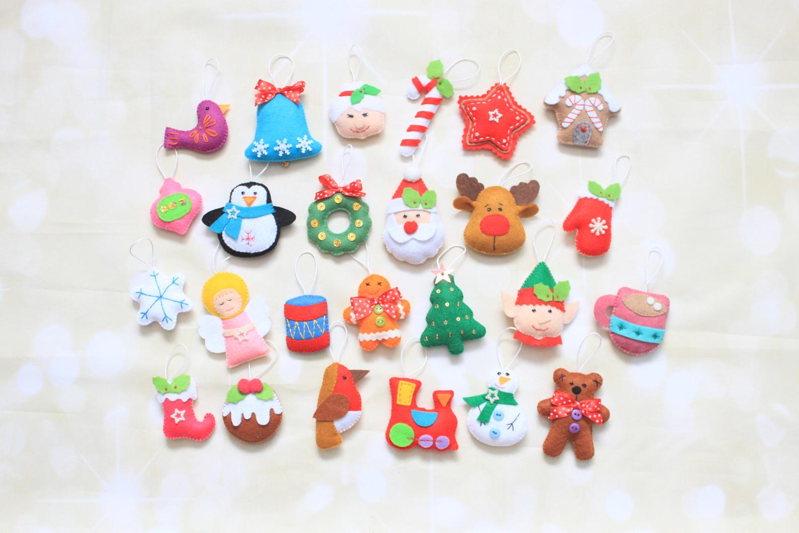 Christmas Ornaments for Advent Calendar By Miracle Inspiration