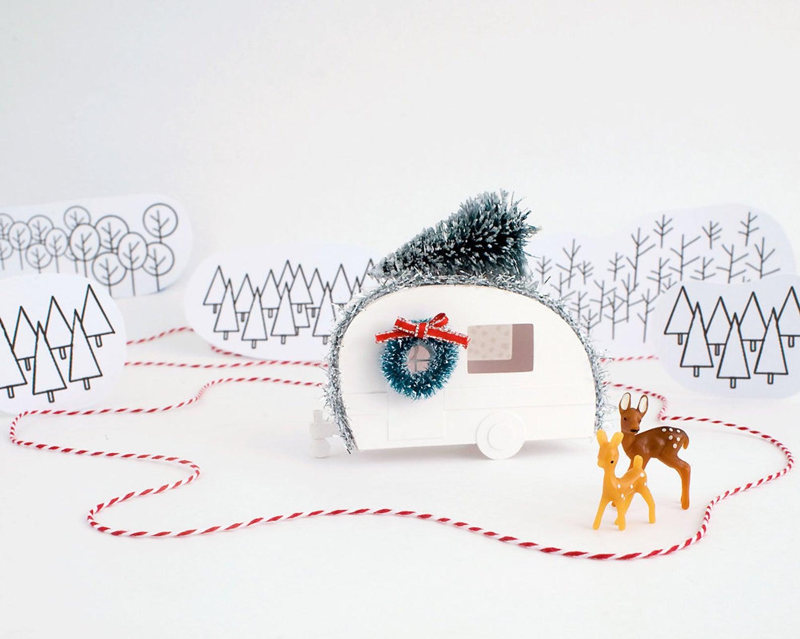 Vintage Camper Christmas Ornament DIY Kit By Holiday Spirits Decor