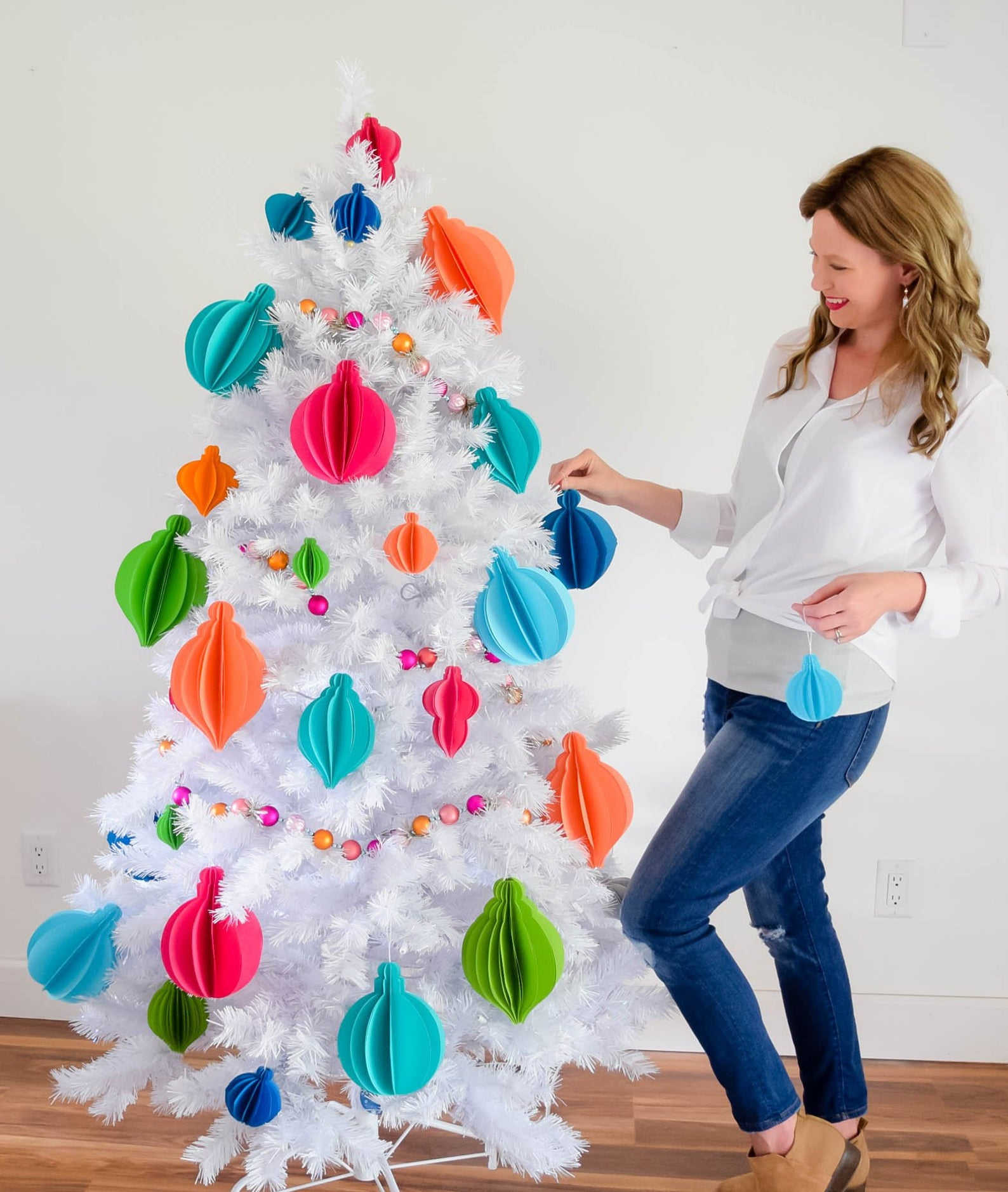 Christmas Decorations Paper Christmas Ornaments By Catching Color Flies