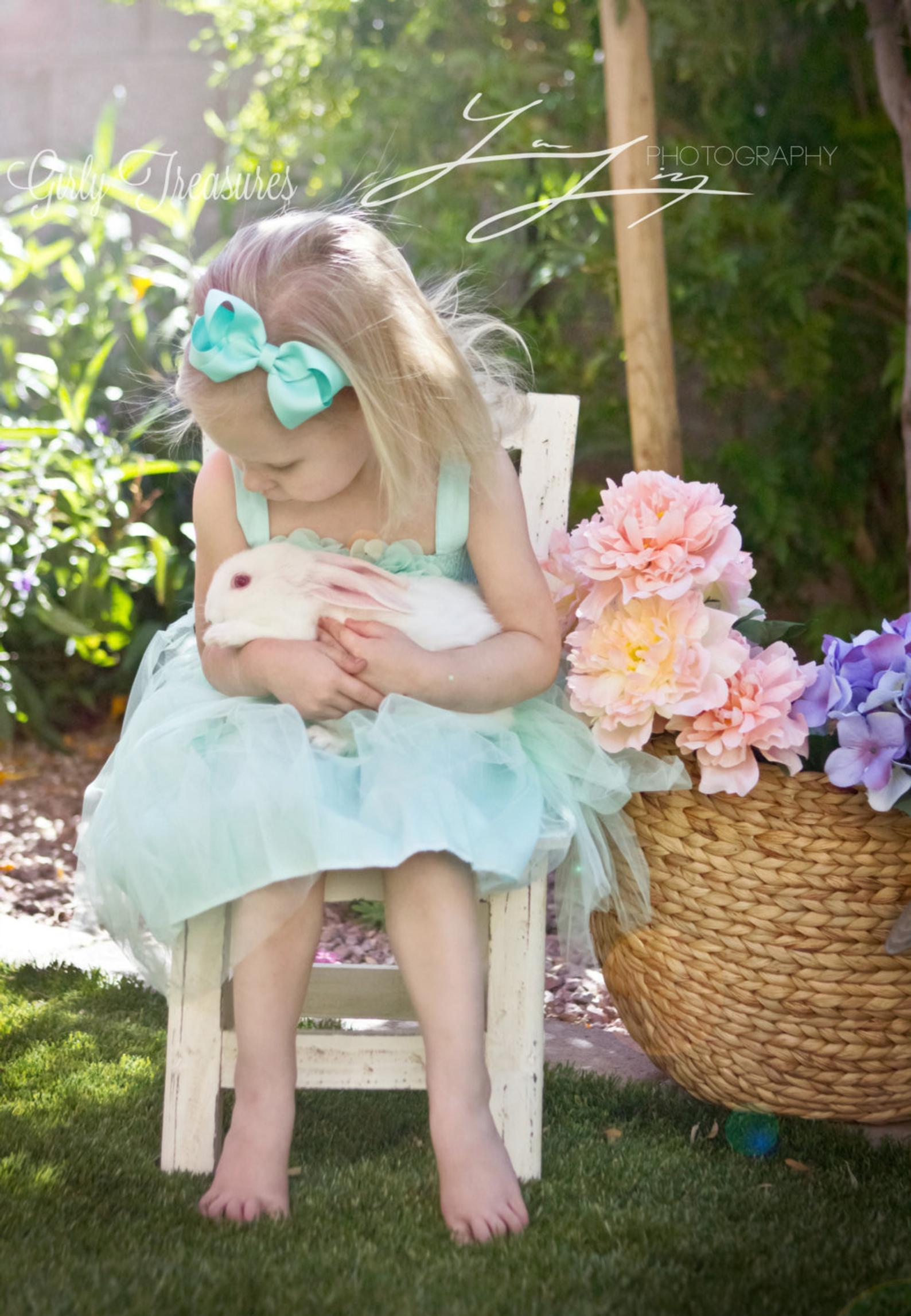 Mint Easter Bow Headband By Girly Treasures