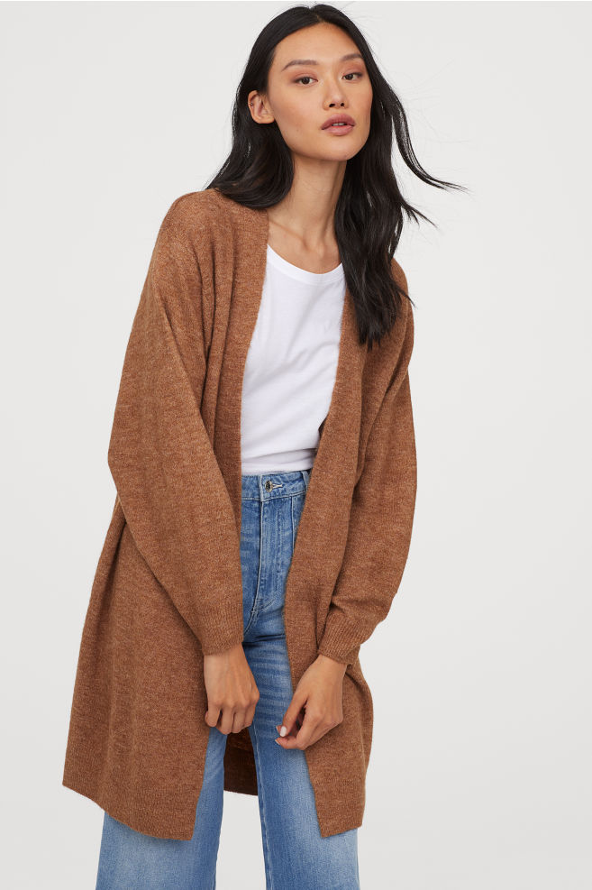 Extra Long Rust Cardigan By H&M