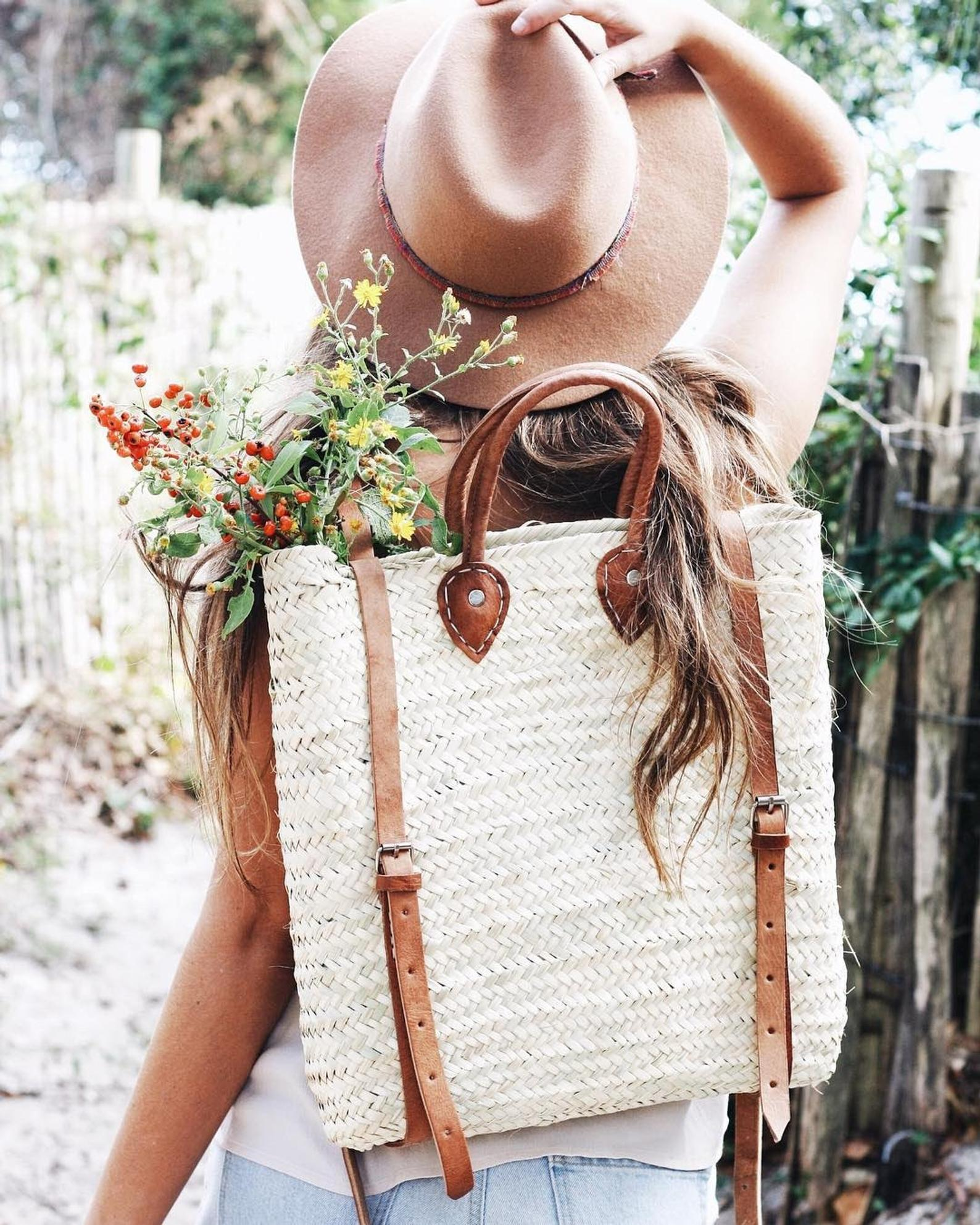 Handmade Straw Backpack By Woven Finds Co.