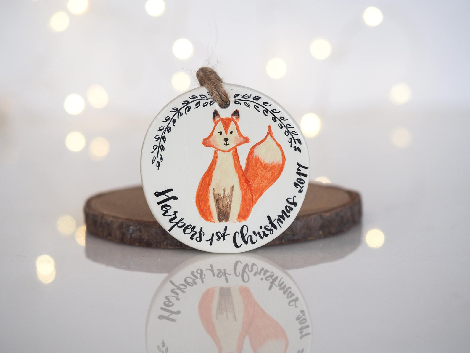 Baby's First Christmas Ornament By Paint My Dream
