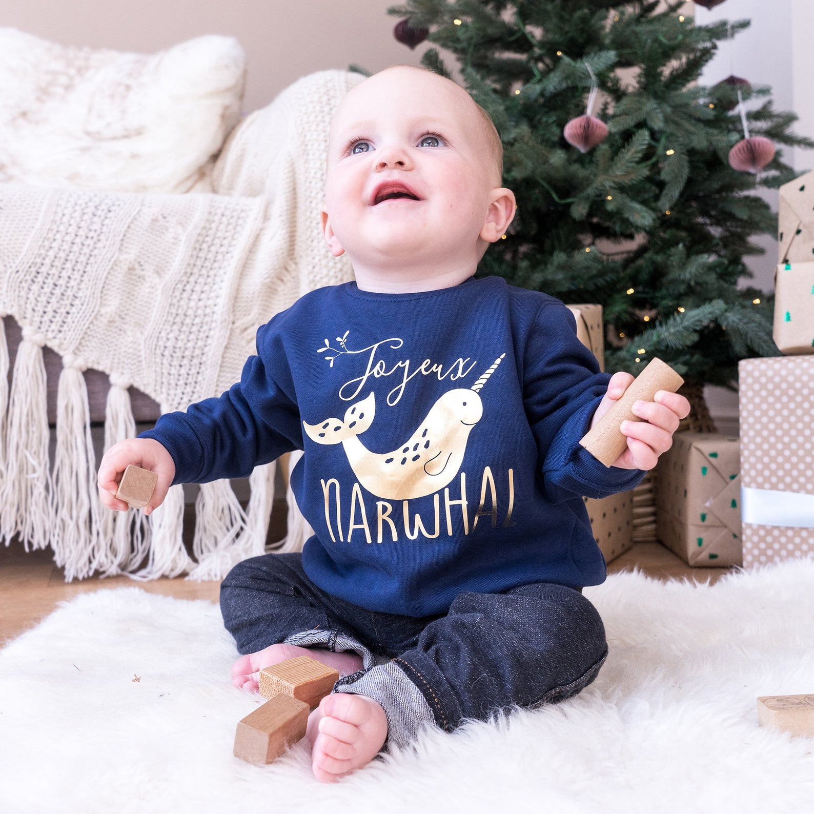 Narwhal Christmas Jumper By Sparks and Daughters