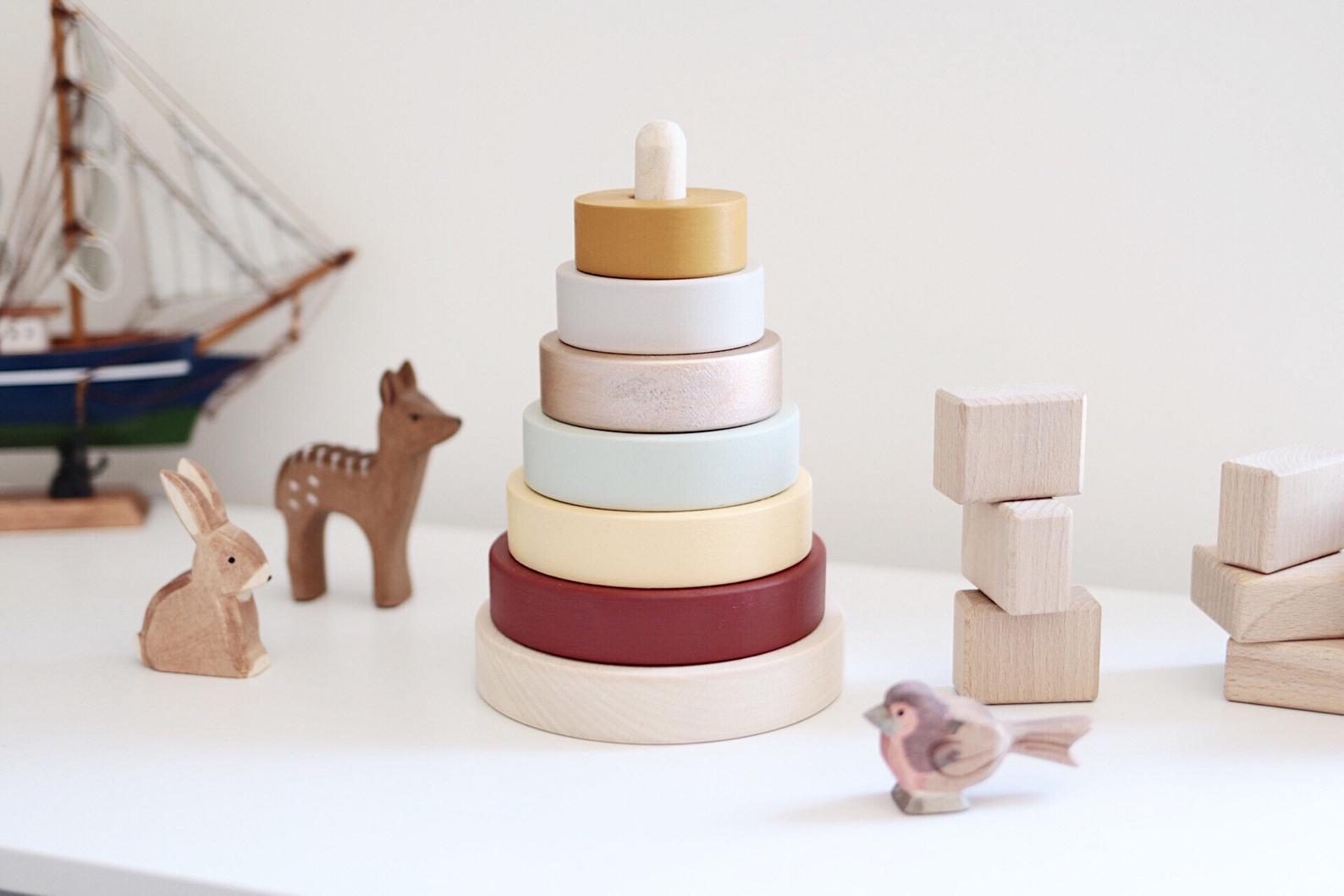 Wooden Ring Stacker By Happy Little Folks Shop