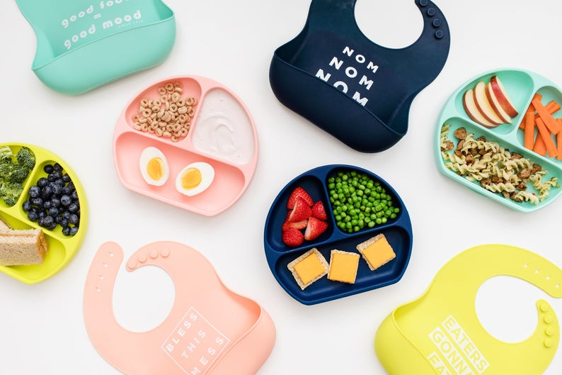 Divided Suction Plates for Toddlers By Simka Rose