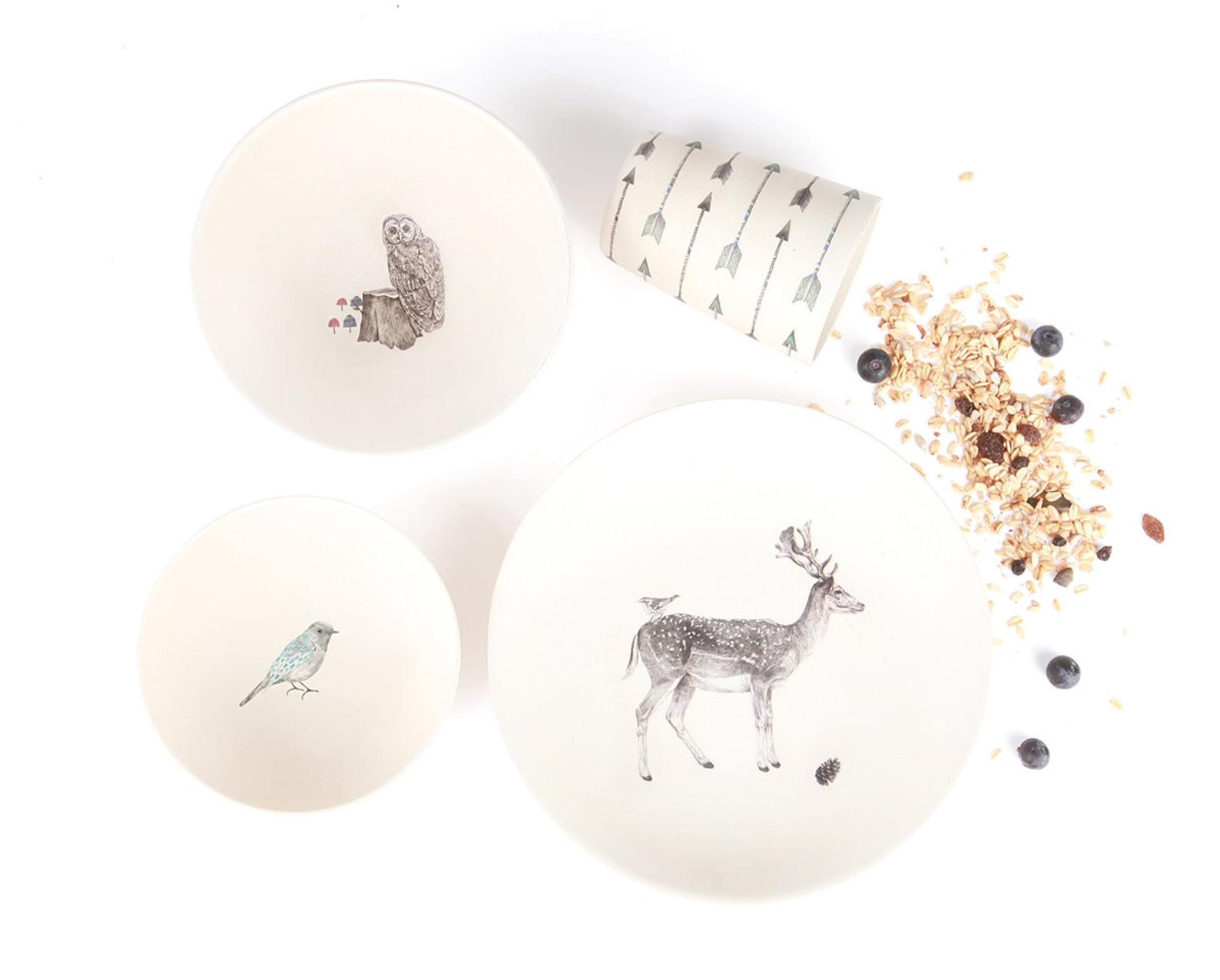 Forest Supper Bamboo Dinnerware By Love Mae Store