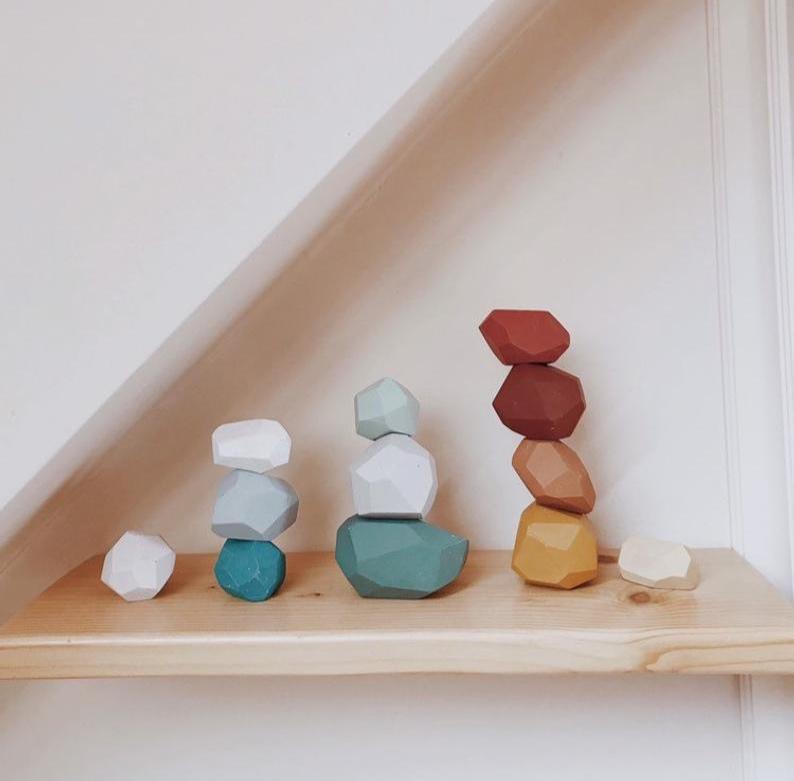 Montessori Balancing Stones By Happy Little Folks Shop