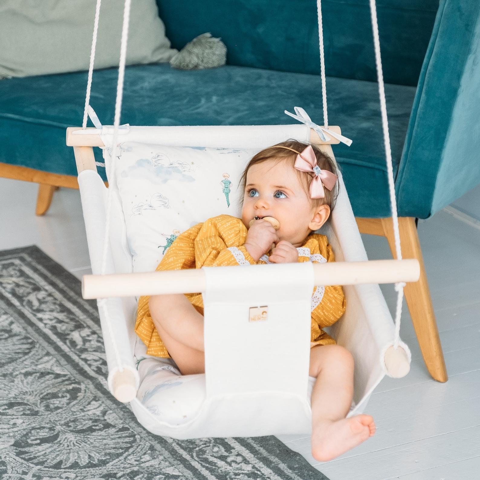 Baby Linen Indoor and Outdoor Swing By Cozy Dream Swing