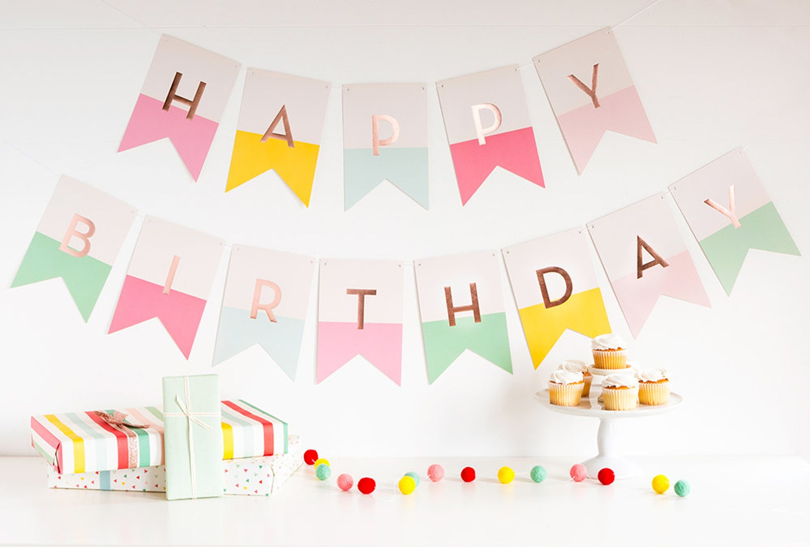 Happy Birthday Banner By The Parties That Pop