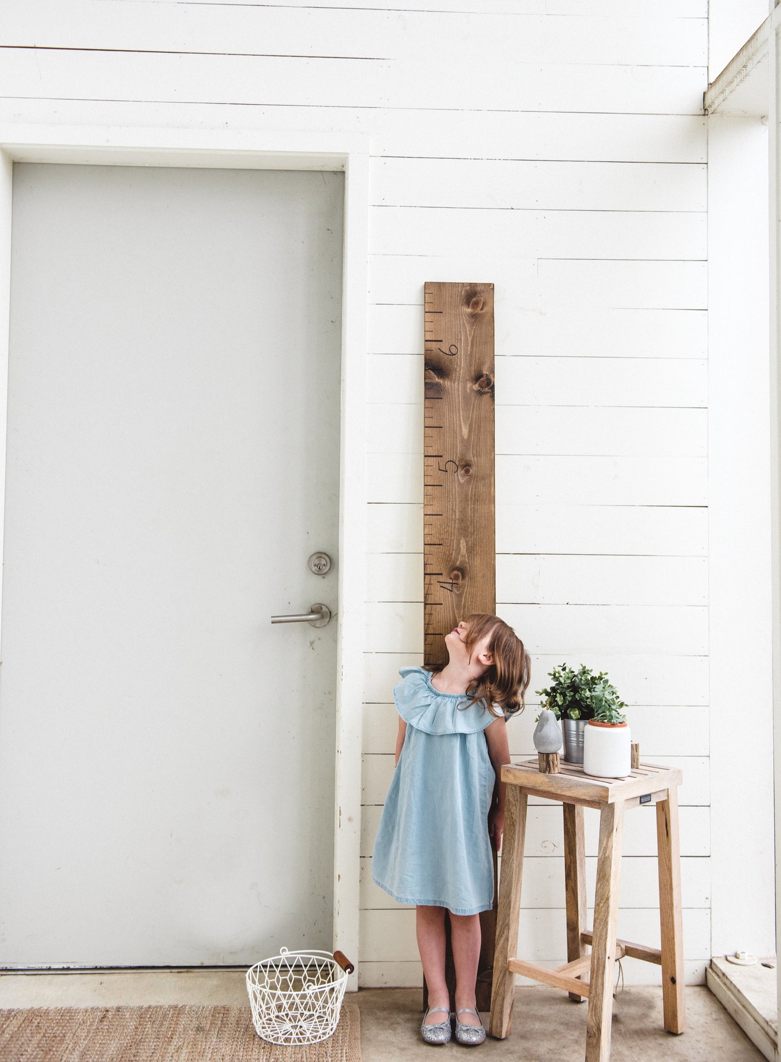 Wooden Growth Chart Ruler By The White Loft