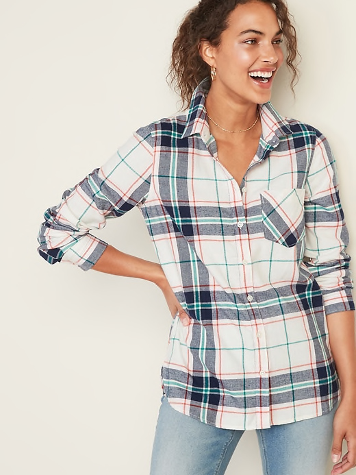 Old Navy Multicolor Plaid Shirt