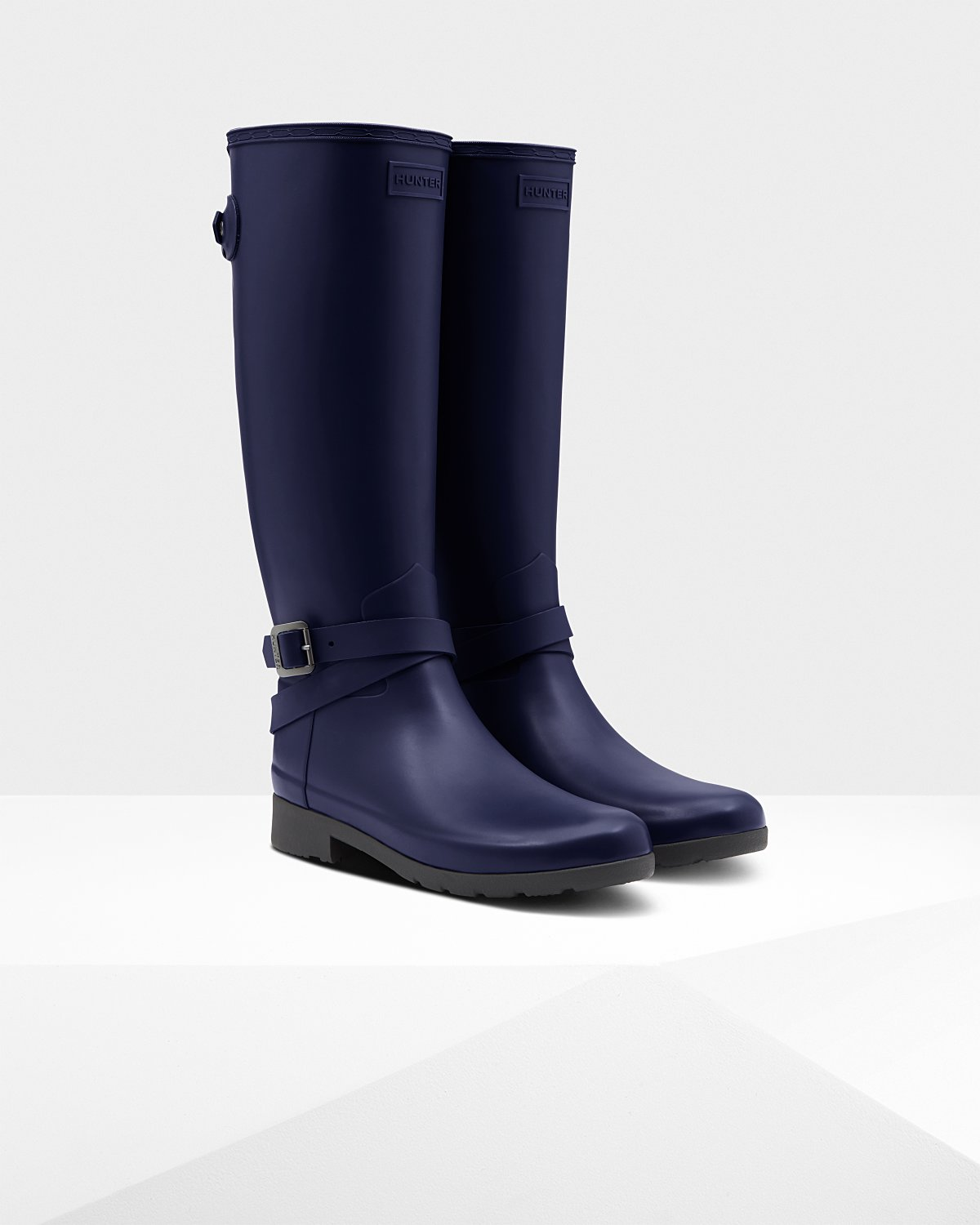 Hunter Refined Slim Fit Adjustable Tall Rain Boots in Melody