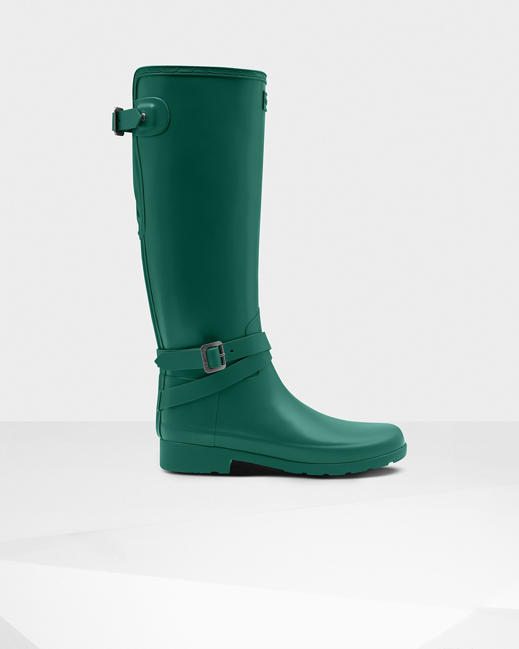 Hunter Refined Slim Fit Adjustable Tall Rain Boots in Encore