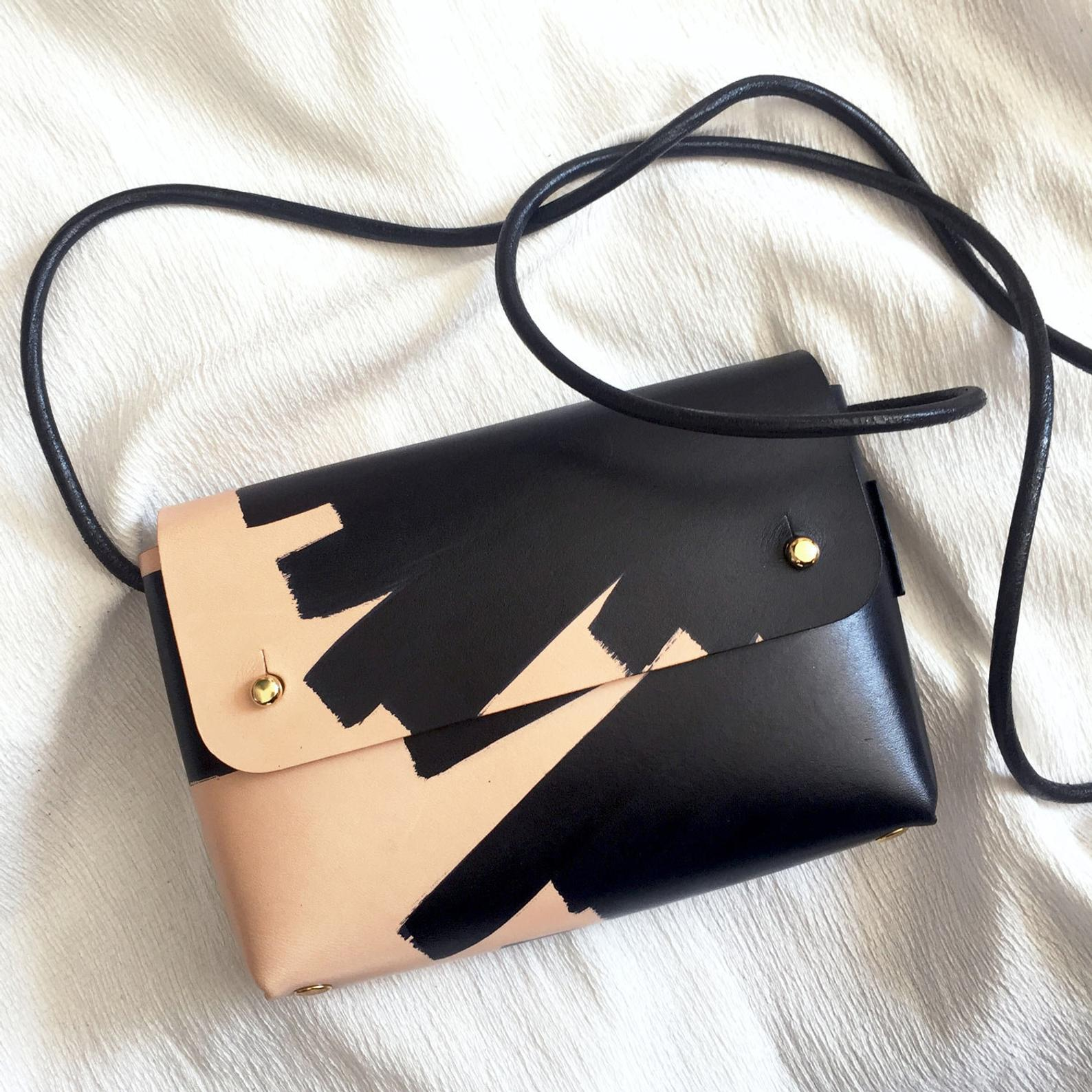 "Handmade OANA ""Ink Brushed"" Mini Cross-Body Bag By Kles Official"