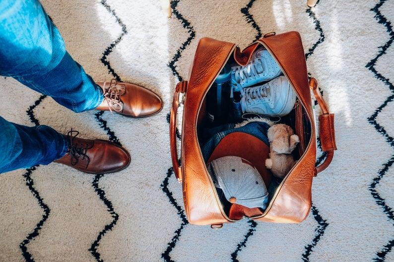 Leather Duffle Bag By PepperLeatherwork