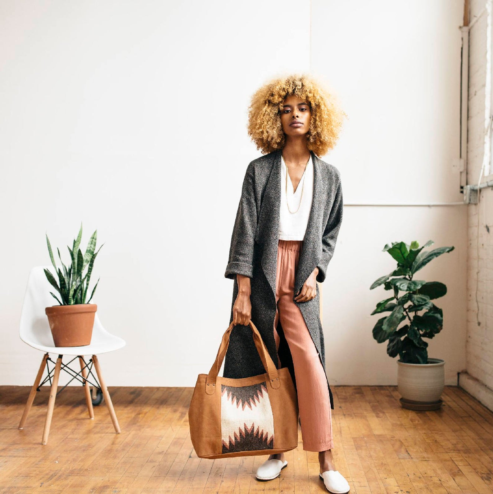 Handmade Soft Leather Tote Bag By MZ Fair Trade