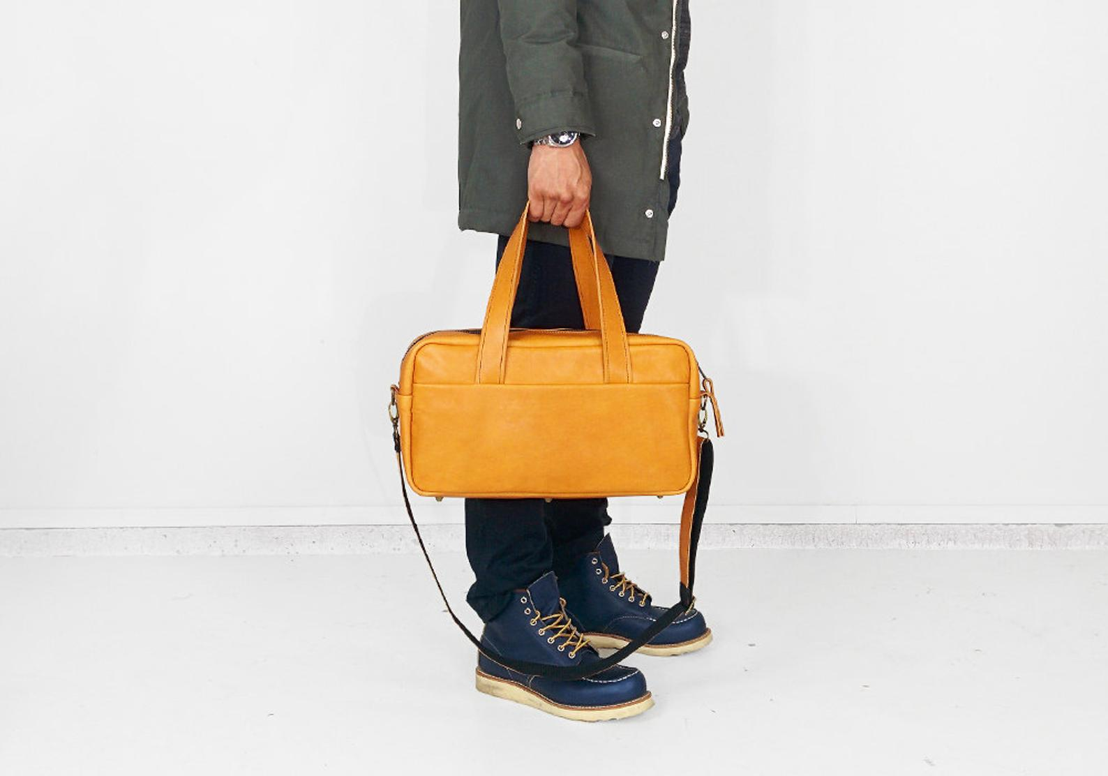 Leather Duffel Bag By Wilhelm and Friends