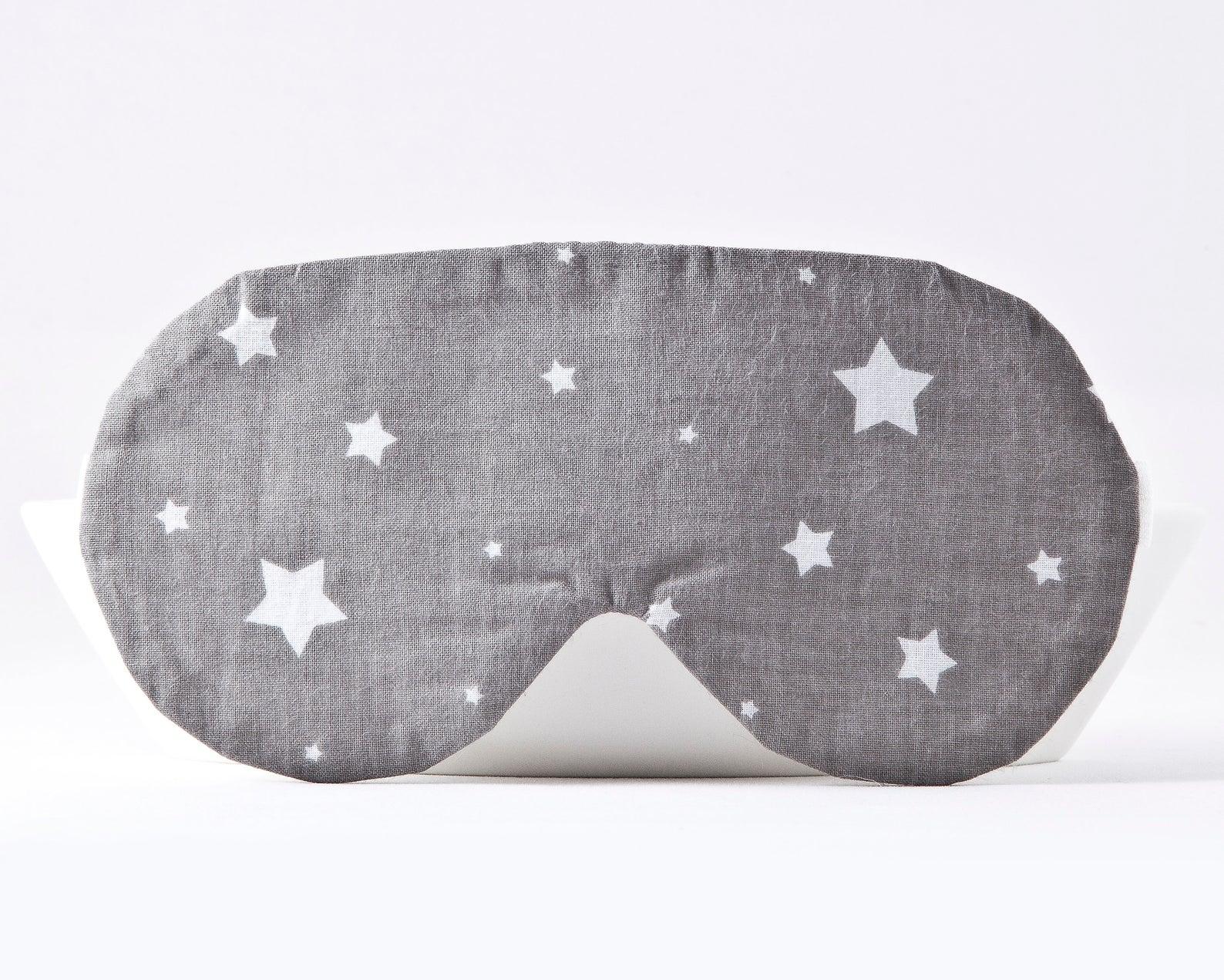 Gray Travel Sleep Mask with Stars by Julia Wine