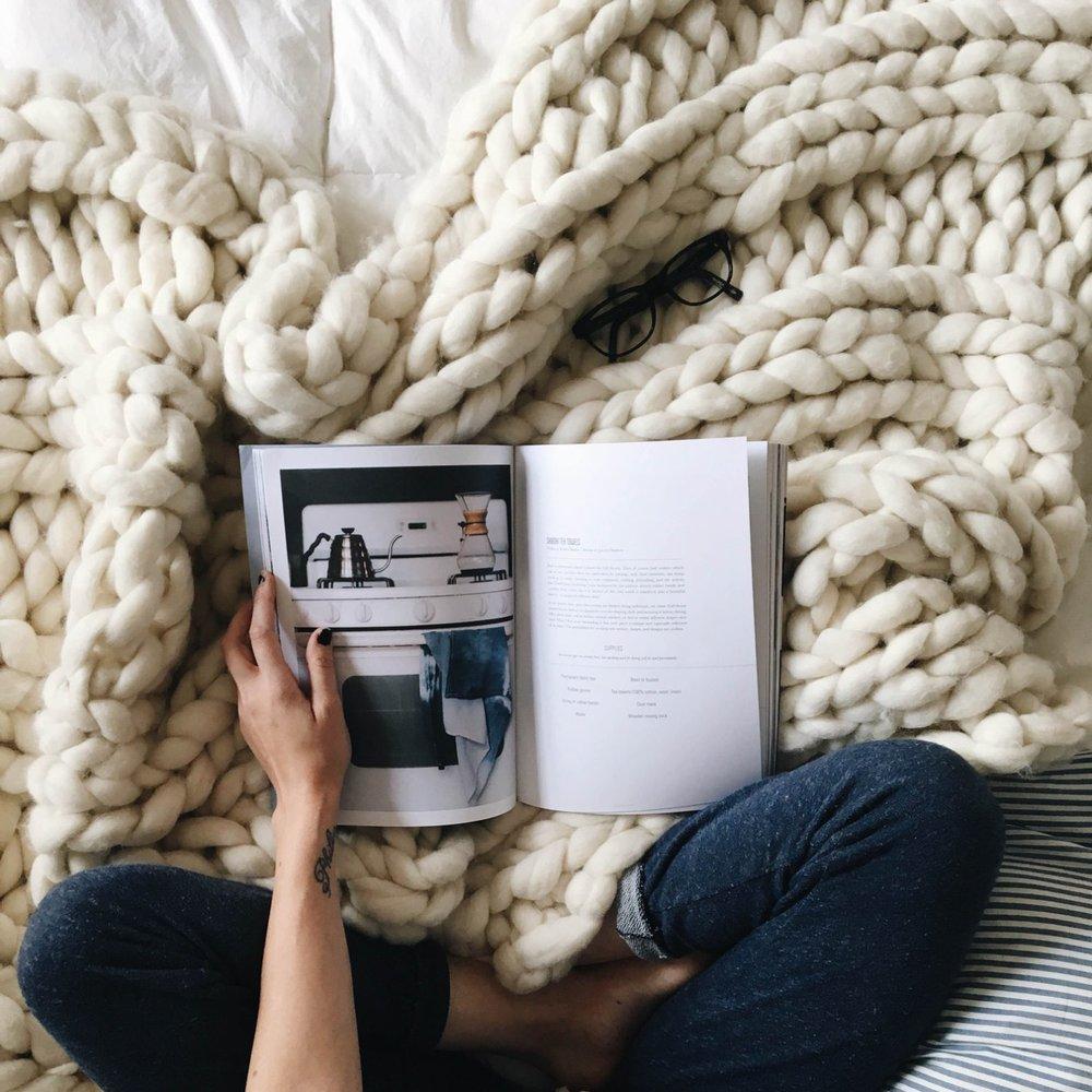 Super Chunky Knit Blanket By Chunky Wool Studio