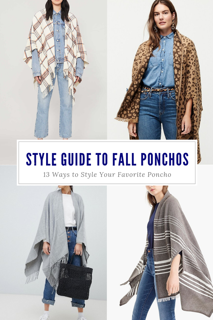 How to Style Oversized Ponchos