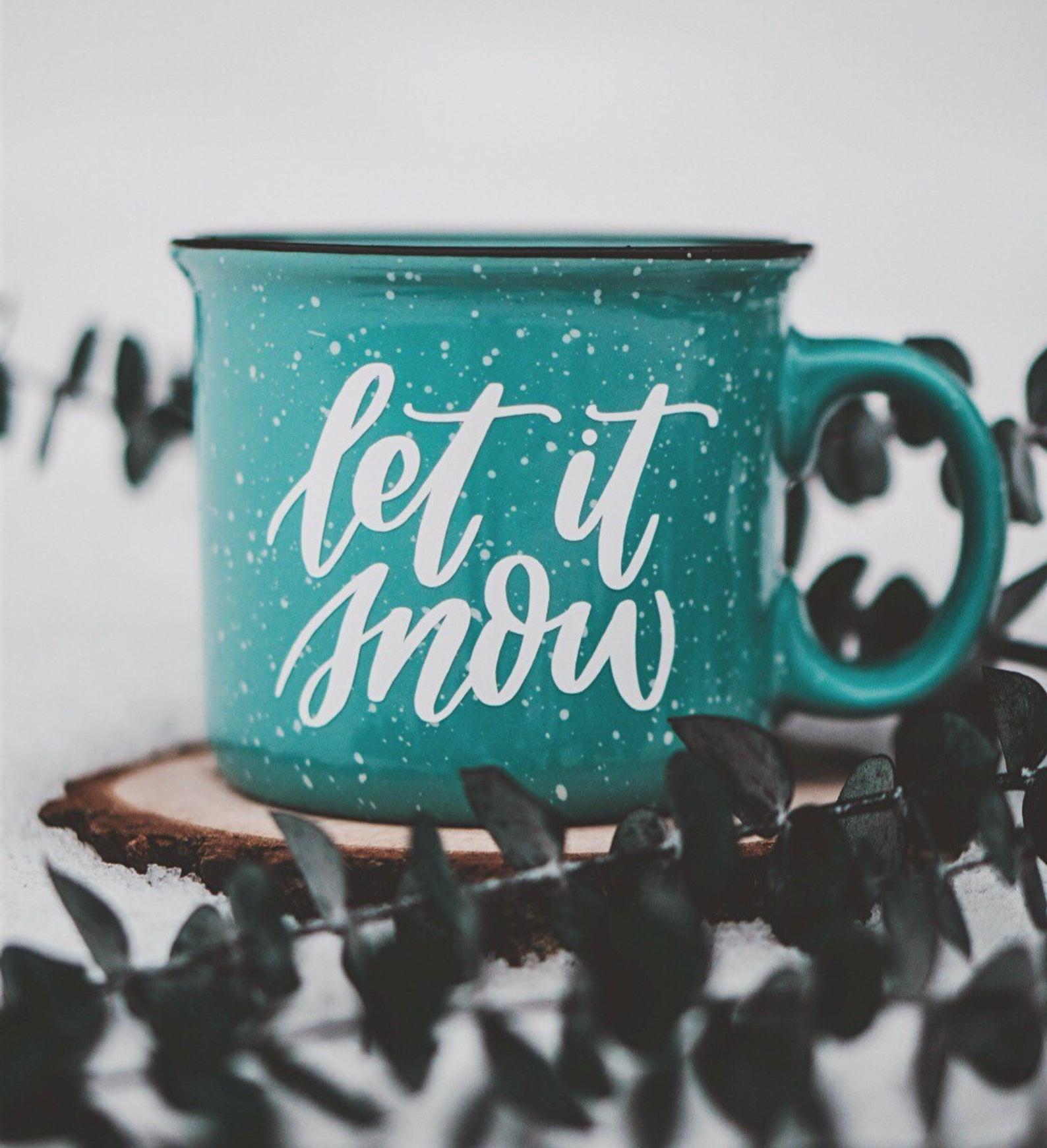 Let it Snow Coffee Mug By Samantha Renee Designs