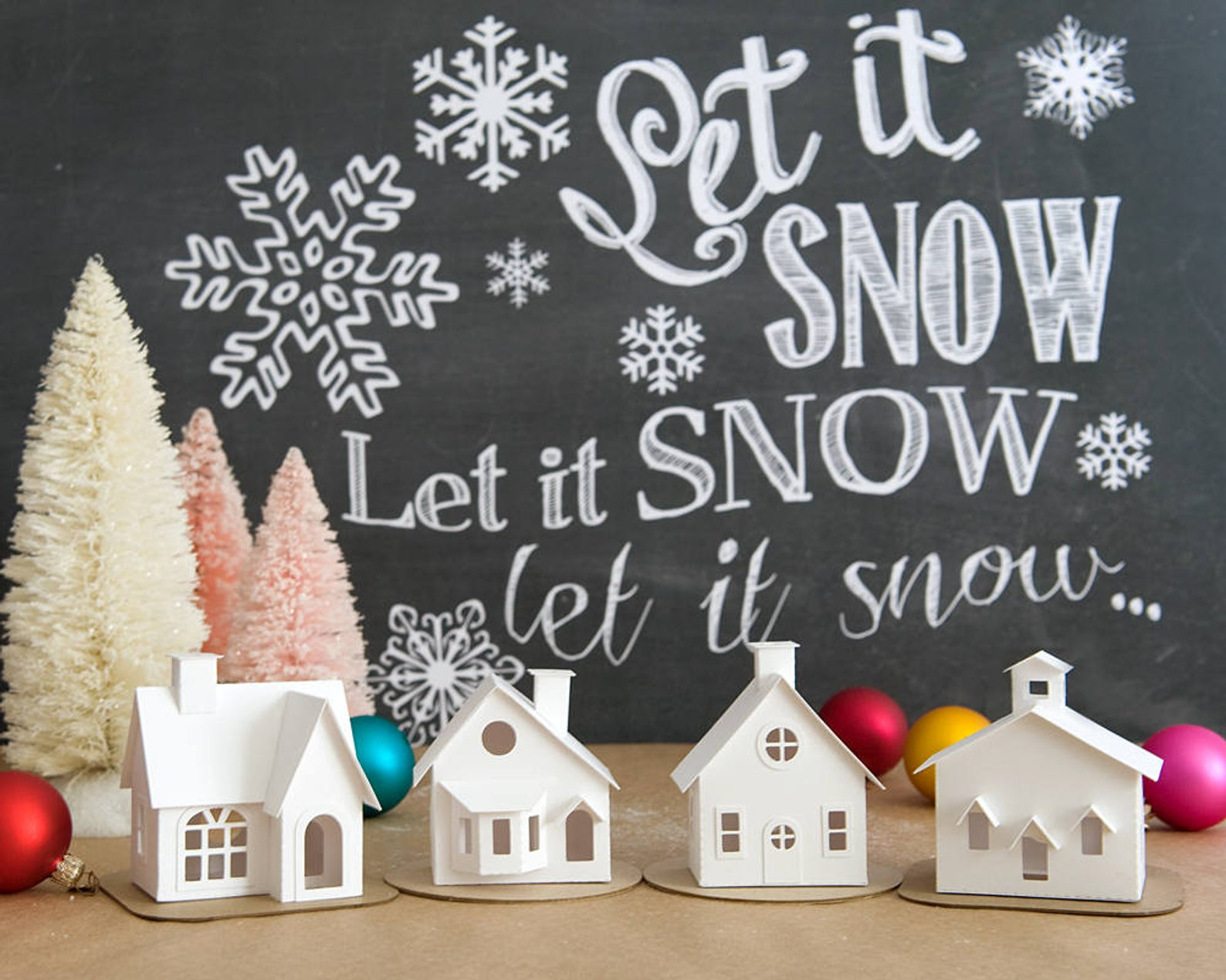 DIY Putz Village Kit By Holiday Spirits Decor