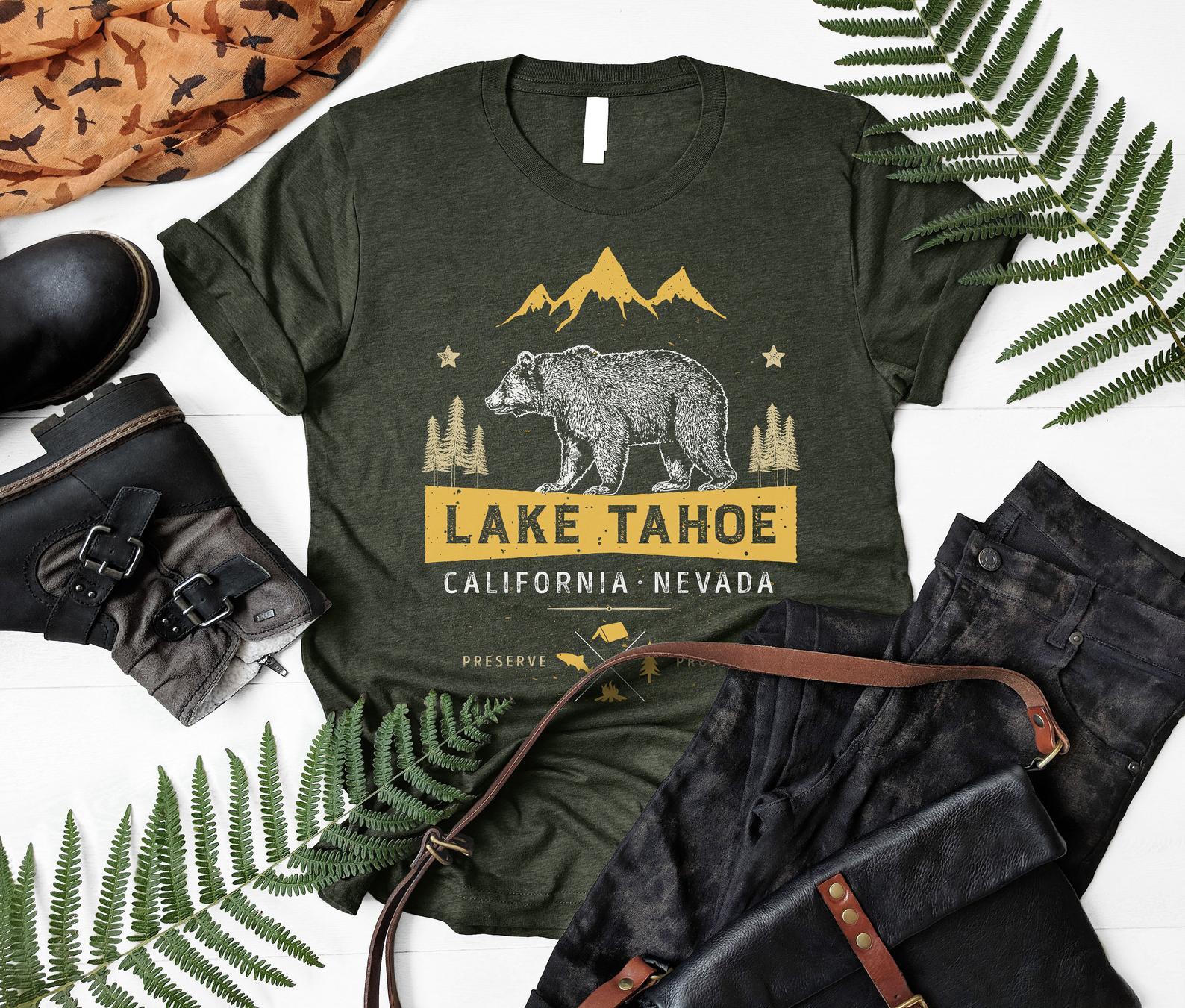 Lake Tahoe National Park Shirt By Lique Tees