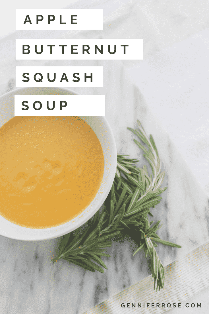 Butternut and Green Apple Squash Soup