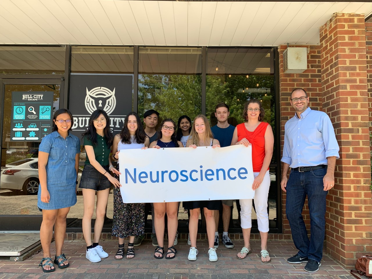 Not the usual team building activity: Students in Duke's 8-week Summer Neuroscience Program got to know each other while locked in a room.