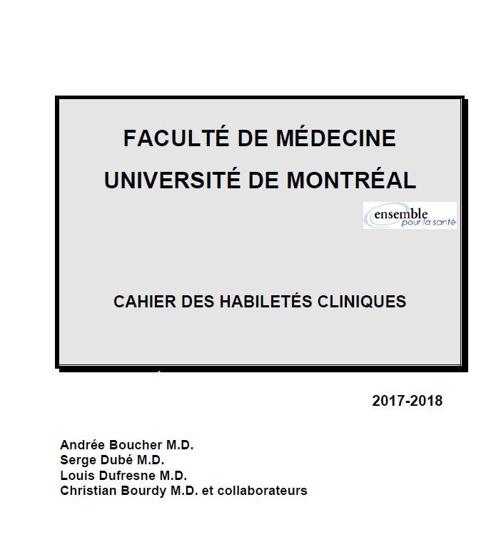 MMD2235 - Introduction à la démarche clinique