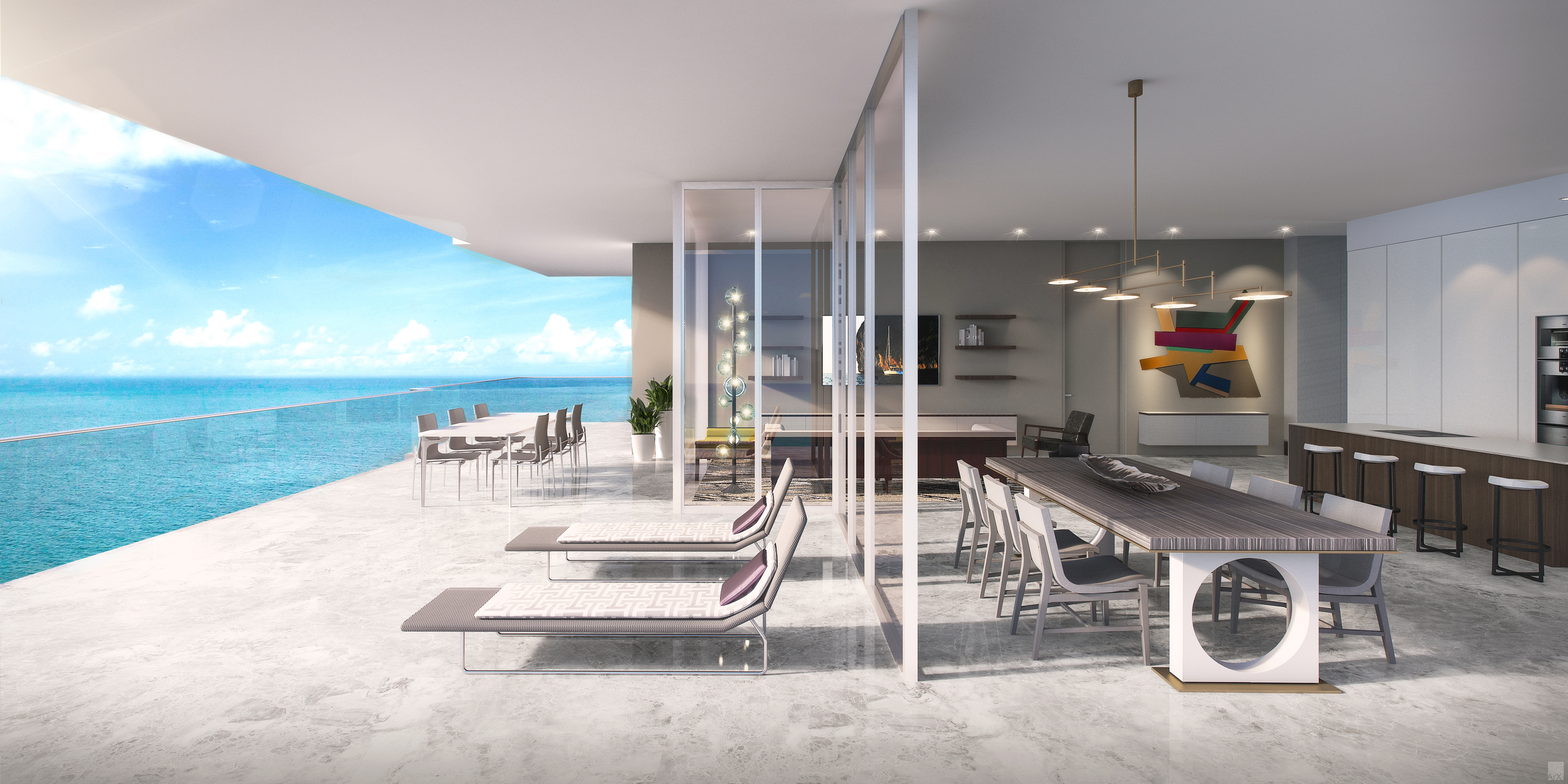 L'Atelier on Collins Avenue consists of 23 residences, including half-floor units with up to 1,171 square feet of exterior space. Courtesy of L'Atelier Residences
