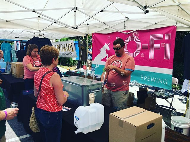 Our friends at @lofibrewing are serving up the brew for today's #beercityfest.