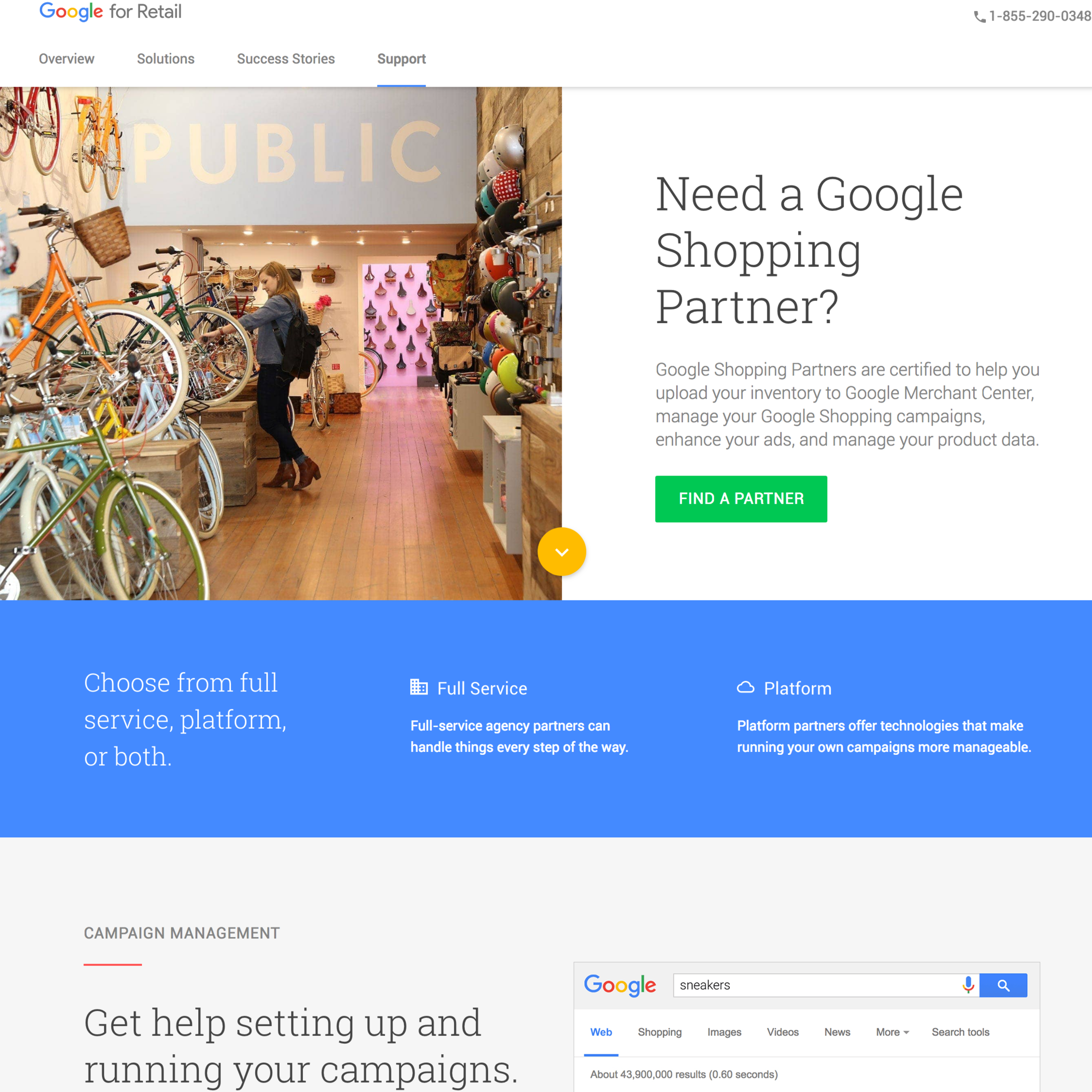 Google Partner Sites - Google Retail and Certified Publishing Parter sites. UX Design, Content Strategy, Production, Copywriting.