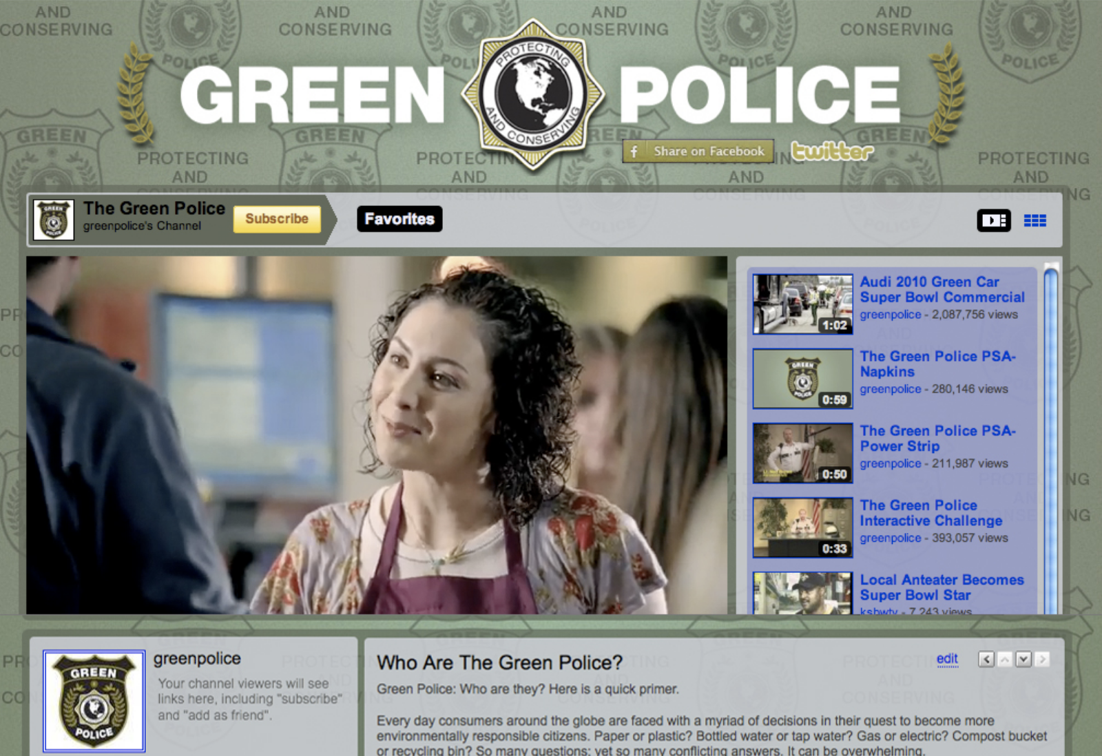 Audi Green Police - Interactive videos on Green Police YouTube channel establish best practice.