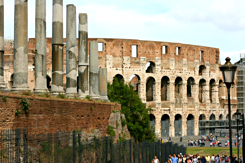 The Colosseum. Gladiators welcome.