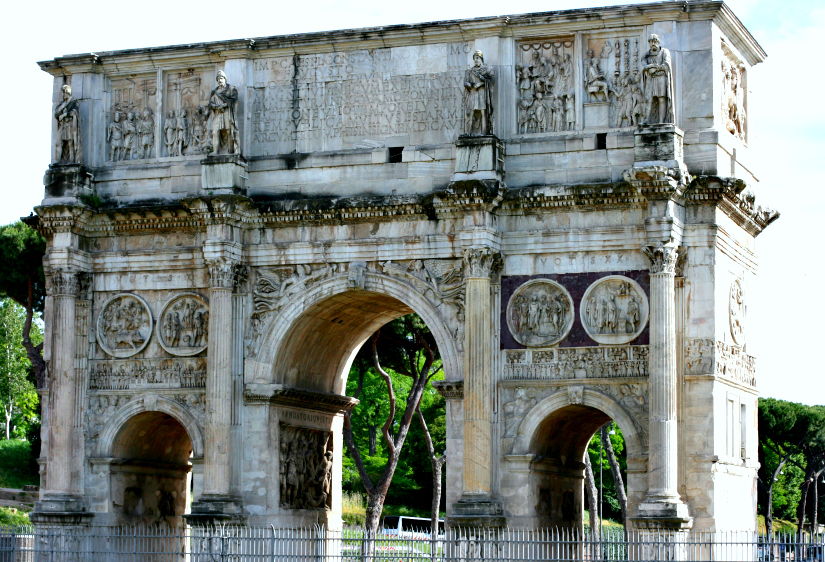 Arch of Constantine. I think he was rather impressed with himself.