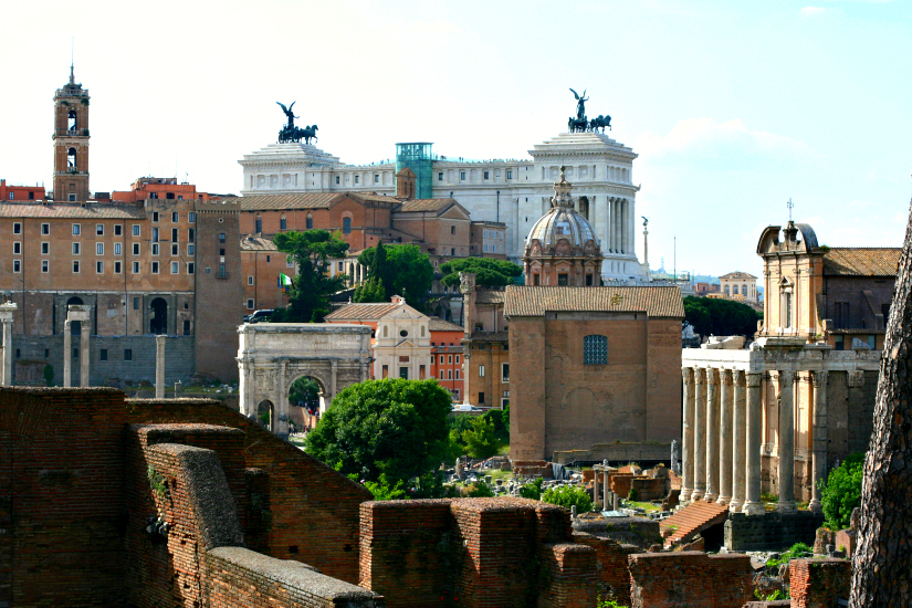 The Roman Forum. I'm still struck by the fact that we are allowed to walk all over this archaeological playground.
