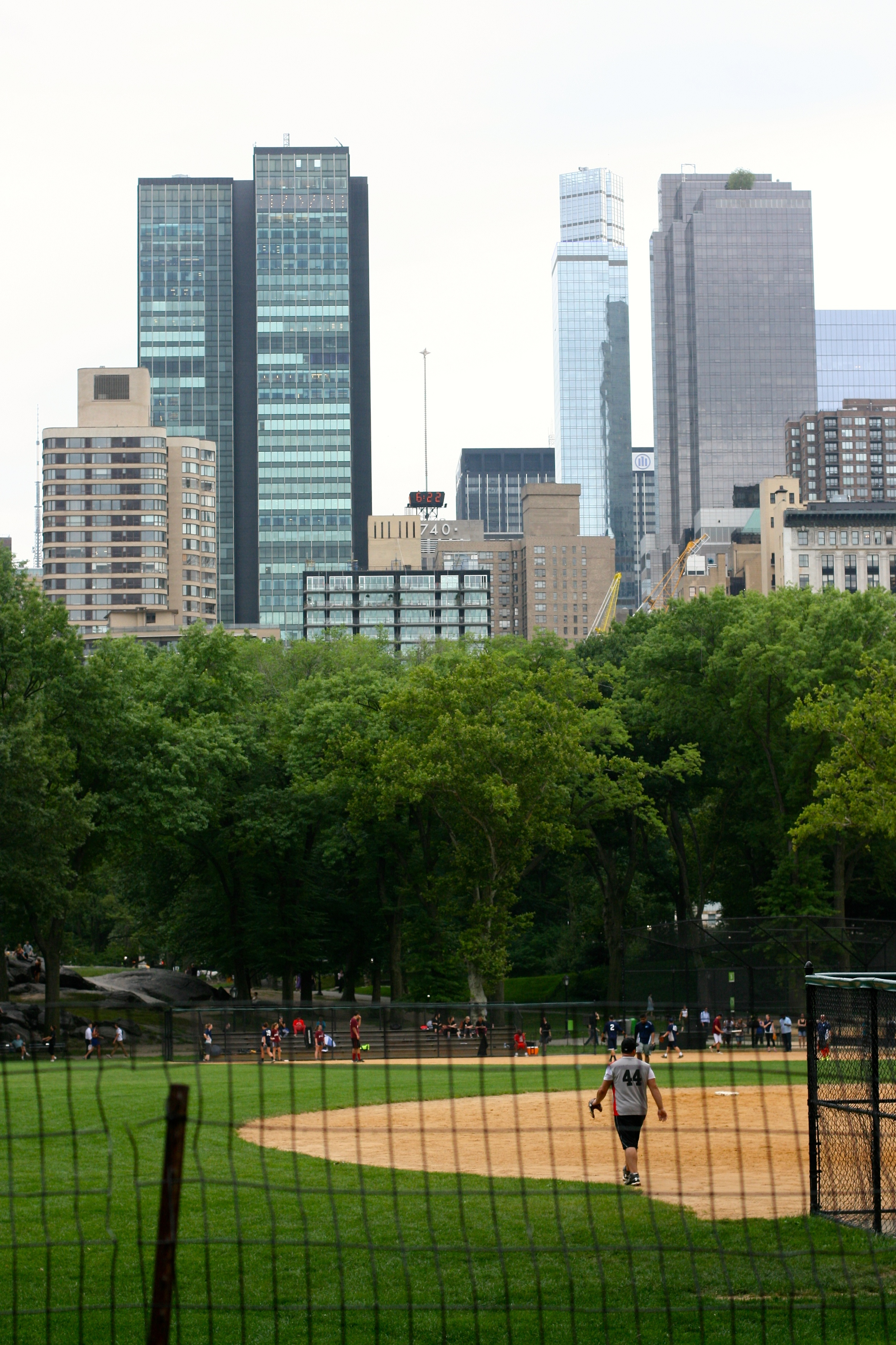 Probably the only place where you can watch a ball game and gaze at the cityscape ALL AT ONCE. Central Park, you rule.