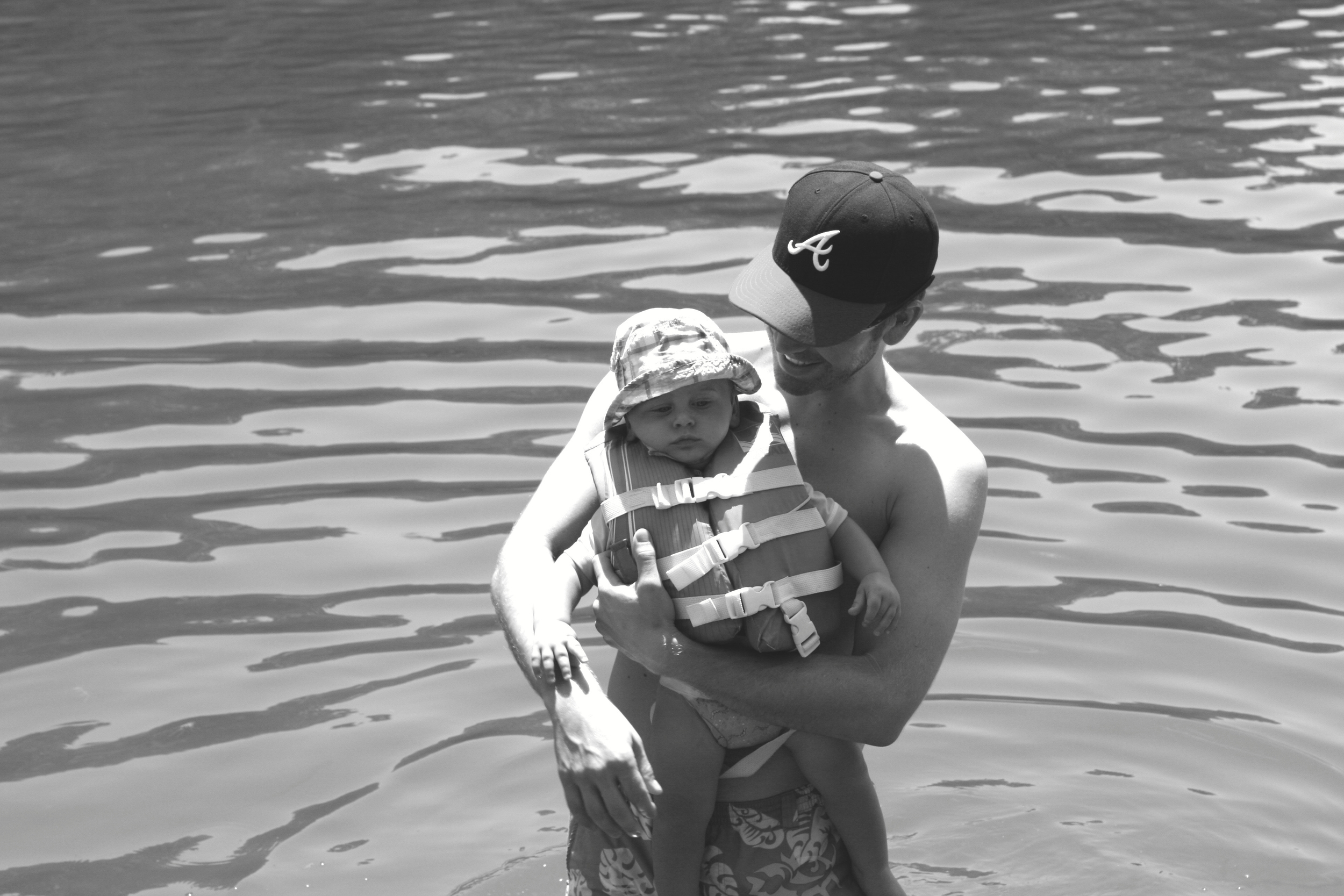 That baby in that life vest and that man - I AM SO HAPPY. These two are the best thing in my life.