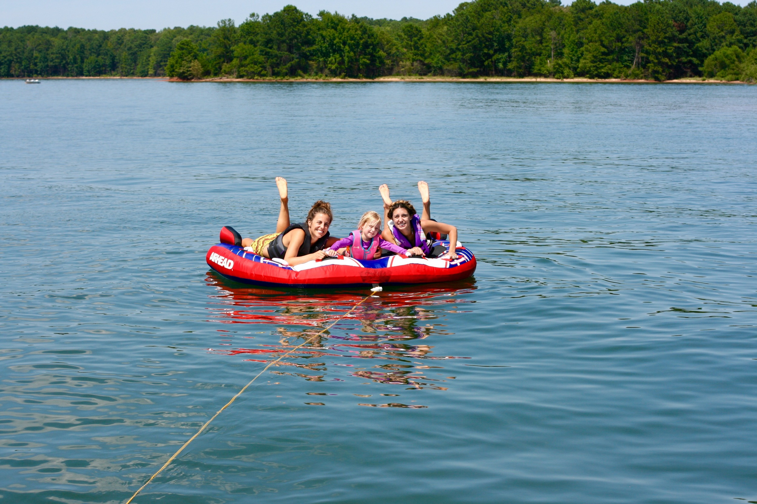 Playing on the water with my bff sis-in-law and my sweetheart niece. Girl time is the best time.