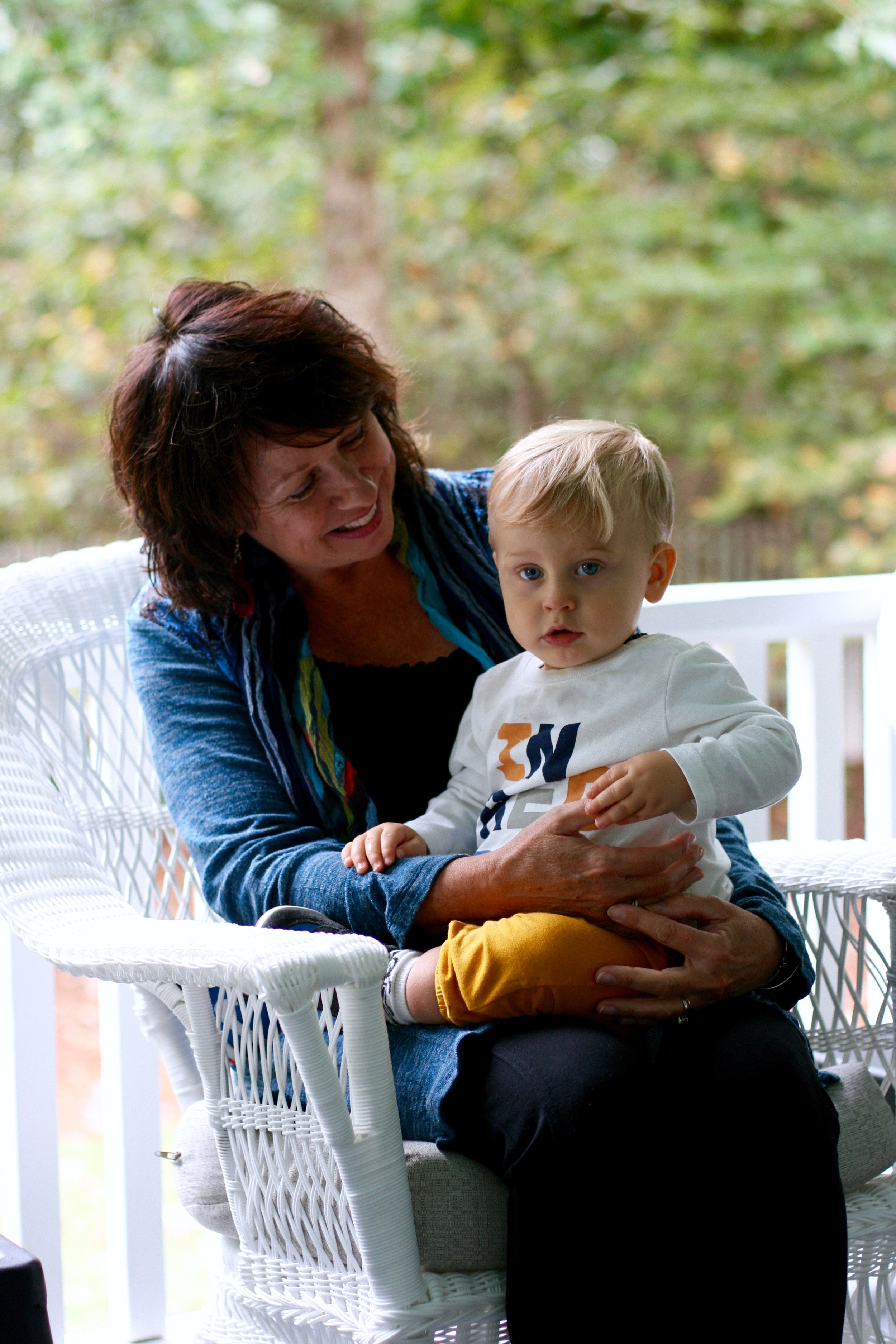 This little one is fiercely protective of his Nana.